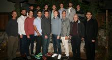 CMS Men's Tennis with CMC President Hiram Chodosh