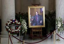 Antonin Scalia portrait at memorial service