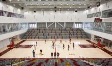 Main gym at Roberts Pavilion