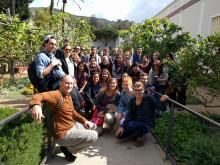 Professor Bjornlie and students visit the Getty Villa