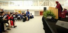 CMC President Hiram E. Chodosh speaks at 2016 Convocation