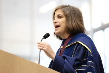 Prof. Diana Selig speaks at CMC's 2016 Convocation