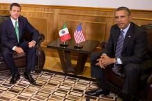Mexican President Enrique Peña Nieto and U.S. President Barack Obama