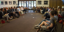 Faculty and students gather for The Current, a forum for lively, engaged debate on timely topics