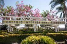Photo of Ontario International Airport sign