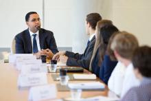 U.S. Department of Education Secretary John B. King Jr. meets with CMC students