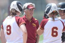 Betsy Hipple, head coach of the CMS softball team