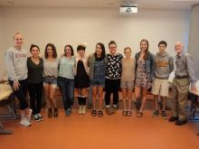 Visiting professor Wendy Guerra with CMC students