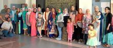 Group photo of Latino Muslim wedding party