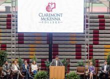Hiram E. Chodosh speaks at Move In Day event