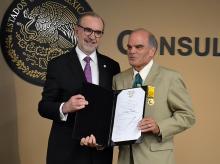 Ambassador Carlos Sada and Prof. Roderic Camp