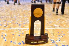 The NCAA Championship trophy