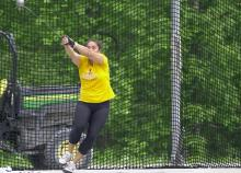 Emily Bassett's hammer throw