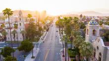 Sunny streetscape