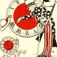 Uncle Sam celebrating passage of daylight saving time bill