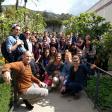 Professor Bjornlie and students visit the Getty Villa