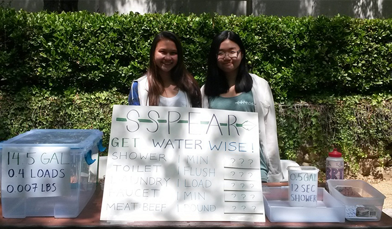 Students giving water-saving tips