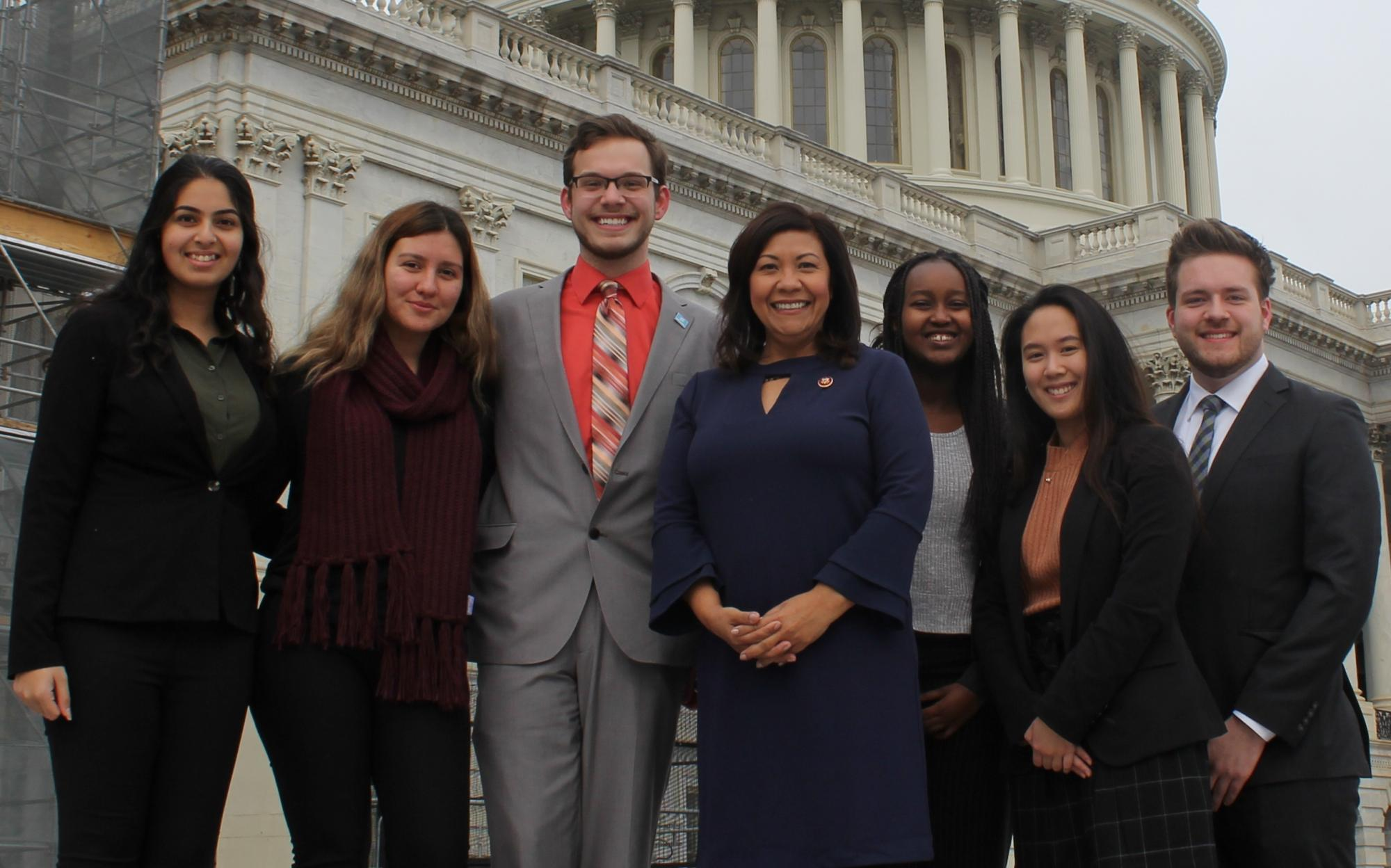 Spring 2019 Interns with Rep. Norma TorresI